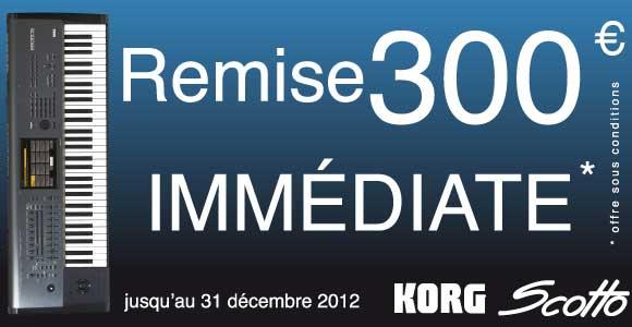 Promotion clavier korg kronos sur scotto musique 300 euro de remise