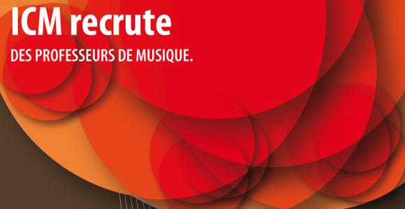 ICm recrute des professeurs de musique