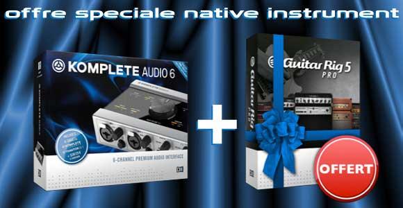 Offre promotionnelle Native instruments - un produit grtuit pour l'achat de Komplete Audio 6