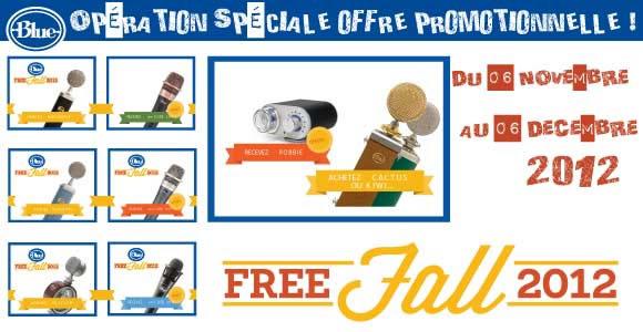 Blue Free Fall des micros gratuits