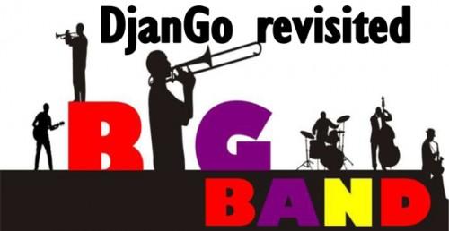 Concert jazz hommage à Django en formule Big Band. 22 musiciens sur scène.